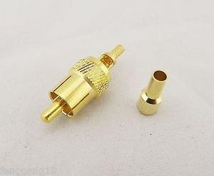 1x RCA Phono AV Male Plug Crimp Connector for RG174 RG316 LMR100 RF Audio Video