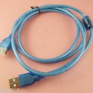 USB 2.0 A Male Plug to USB 2.0 A Female Jack Extension Cable Cord Blue 1.5m/5FT