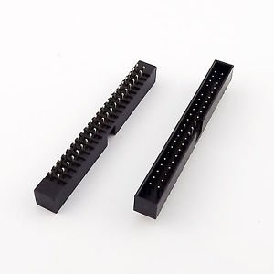 100pcs 2mm 2 x 22 Pin 44 Pin Male Straight Shrouded PCB Box Header IDC Connector
