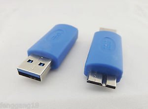 10pcs USB 3.0 A Male To Micro USB 3.0 B Male Gender Changer Converter Adapter