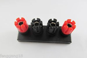 2pcs 4-Pole Push Speaker Terminal To Amplifiers Binding Post