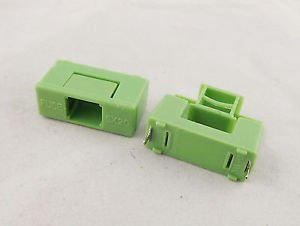 100pcs Fuse Holder DIP PTF-7 6.3A 1.6W 250V Used for 5 x 20mm Green Color