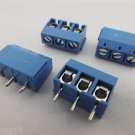50x 3 way 5mm 3 Pin Plug in Terminal Block Screw Connector Pitch Panel PCB Mount