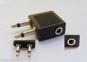 3.5mm Female to Dual 3.5mm Male Mono Airplane Headphone Audio Adapter Converter
