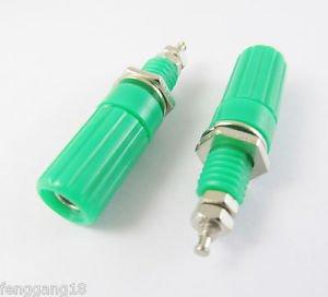 1pcs Binding Post Speaker Cable Amplifier 4mm Banana Plug Jack Connector Green