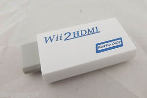 Wii to HDMI Audio Full HD 720P 1080P Converter Adapter Wii2 HDMI 3.5mm Audio Box