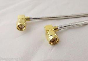 1x SMA Male Right Angle To SMA Male Right Plug Jumper RF Cable RG402 12in 30cm