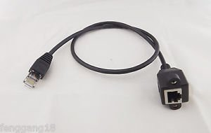 10x 2ft RJ45 M/F Shielded Ethernet LAN Network Screw Panel Mount Extension Cable