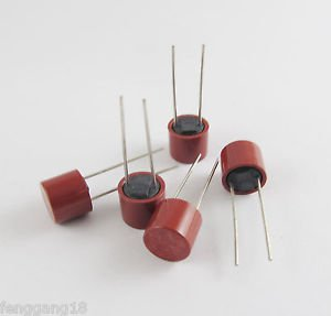 10x Capacitive Cylindrical Miniature Slow Blow Micro Fuse 250V T0.63A T630mA