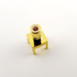 SMB Male Center Solder For PC Board PCB Mount Straight RF Connector Adapter Gold