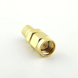 1pcs SMB Female Jack to SMA Male Plug Straight RF Coaxial Connector Adapter