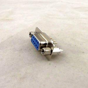 1x D-SUB DB9 DP9 9 Pin Female DIP PCB Solder Connector Adapter 2 Rows Lock Screw