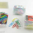 100pcs M&G Colorful Multi Color Paper Clips Pins Vinyl Coated Office Stationery