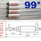 1 Pcs Microtemp Thermal Fuse 99°C 99 Degree TF Cutoff SF96E 10A AC 250V New