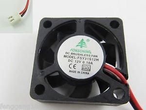 10pcs Brushless DC Cooling Fan 7 Blade DC 12V 30mm x 30mm x 10mm 3010 31S12M