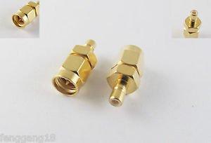 10pcs SMB Male Plug To SMA Male Plug Sraight RF Adapter Connector