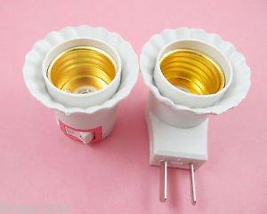10X LED Light Bulb Lamp Socket Base Holder E27 to US AU Plug Adapter Converter