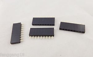 10pcs Pitch 1x 9 Pin 2.54mm Female Single Row Straight PCB Header Strip Socket