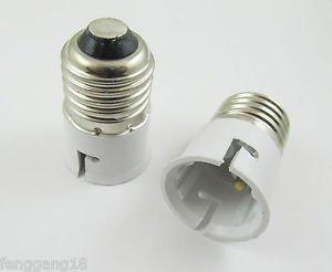 10 X E27 to B22 Socket LED Halogen CFL Light Bulb Lamp Adapter Converter Holder