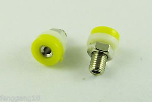 10 Yellow Banana Socket Jack 2mm Mini Banana Plug Brass Receptacle Binding Post