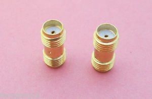100x SMA Female Jack to SMA Female Jack Straight Adapter RF Coax Connector SH