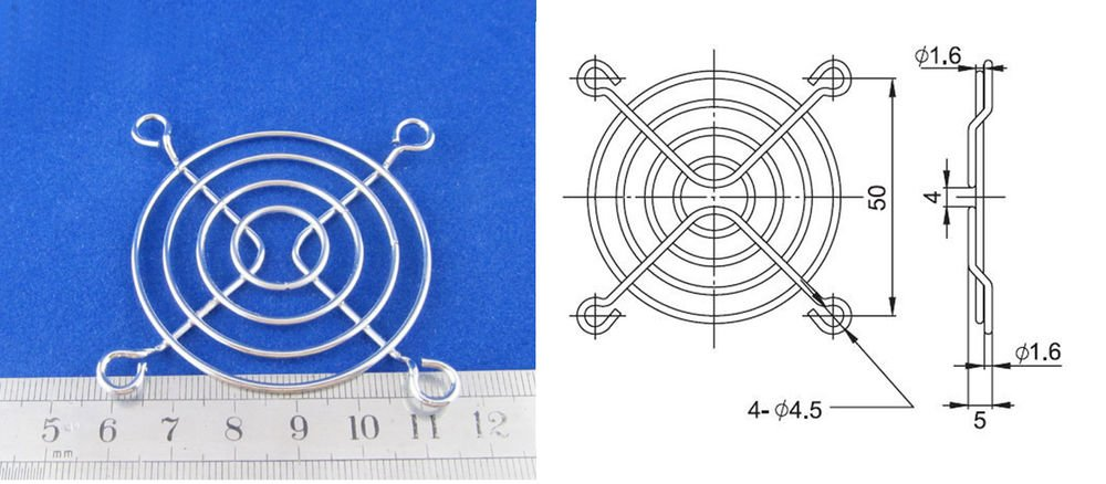 10x Metal Wire Finger Guard 60mm CPU Fan DC Fan Grill/Guard Protector PC Silvery