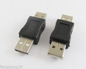 10x USB 2.0 A Male To USB Male Plug Coupler Adapter Converter Connector Changer