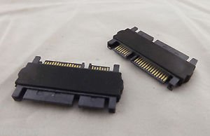 10pcs SATA 22P 7+15 Pin Male Plug to SATA 22 Pin 7+15P Male Convertor Adapter