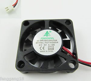 10x Brushless DC Cooling Fan 11 Blade DC 5V 30mmx30mmx06mm 3006 2 Pin Wire 0.15A