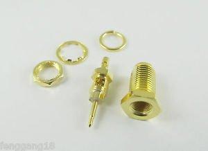 100x RP-SMA Female Center Nut Bulkhead F 1.13 U.FL IPX Cable RF Solder Connector