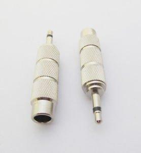 10pcs 3.5mm Male Plug Mono to 6.35mm Female Metal Audio Adapter Converter Nickel