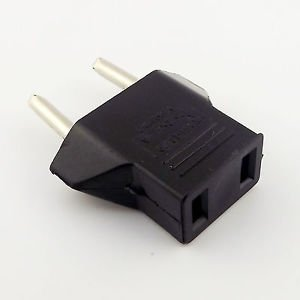 1x Travel Charger Wall AC Power Plug Adapter Converter US USA to EU Europe EURO
