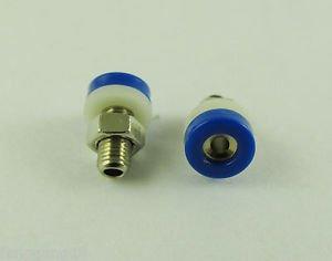 10x Blue Banana Socket Jack F 2mm Mini Banana Plug Brass Receptacle Binding Post