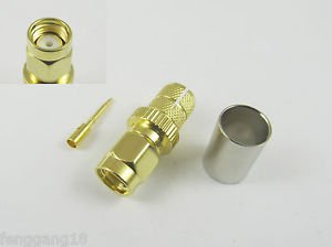 SMA Male Plug Crimp For RG8 LMR400 RG213 RG214 RG165 Cable RF Connector