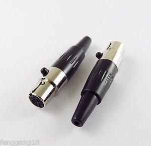 10x 3 Pin Female Plug Mini XLR Audio Microphone Connector MIC Adapter Tini TA3F