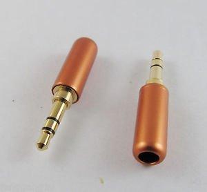 10x Orange 3.5mm Male 3 Pole Stereo Repair Audio Earphones TRS Connector Solder