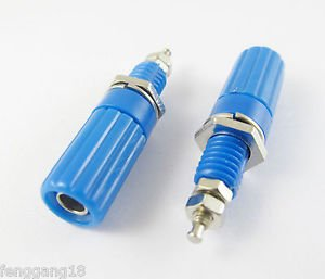 10pcs Binding Post Speaker Cable Amplifier 4mm Banana Plug Jack Connector Blue