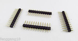 500x Gold Round 2.54mm 1x12 12 Pins Male Single Row Strip Pitch PCB Panel Header