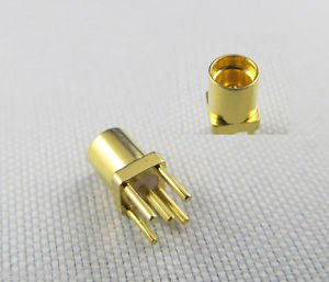 100x PC Board PCB Mount Center Solder MMCX Female Straight RF COAXIAL Connector