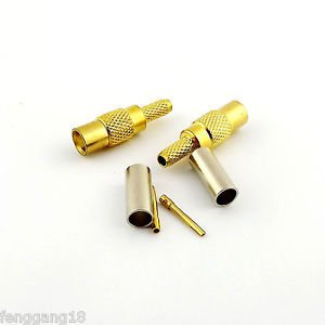 50x MCX Female Jack Crimp For RG174 RG316 LMR100 RG179 RG188 Cable RF Connector