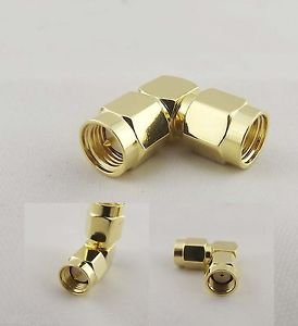 10x SMA Male Plug To RP-SMA Male Jack Right Angle Elbow 90° RF Adapter Connector