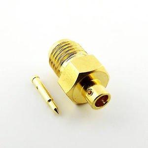 "1pcs RP-SMA Female Plug Solder For Semi-rigid RG405 0.086"" Cable RF Connector"