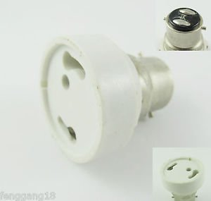 10Pcs B22 to GU24 Socket Base LED Halogen CFL Light Bulb Lamp Adapter Converter