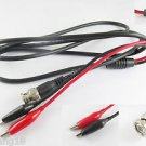 BNC Male Q9 To Dual Alligator Clip Oscilloscope Test Probe 1.5M/5FT