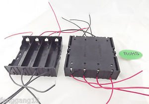 10x Hold Four 4 Li-ion 18650 Battery Holder Case DIY With 8 Leads Wire