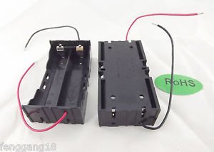 10pcs Hold 2 Li-ion 18650 Battery Holder 3.7V Parallel Case With 2 Wire Leads