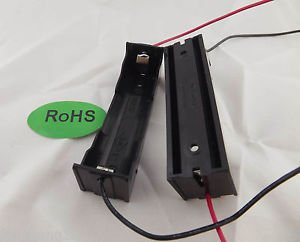 10pcs Hold One Li-ion 18650 X1 DIY 3.7V Battery Holder Case With Lead Wire