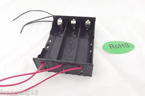 10pcs Hold Three 3 Li-ion 18650 Battery Holder Case DIY With 6 Leads Wire