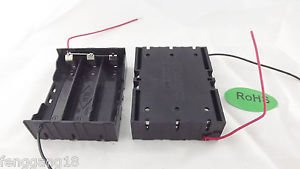 10pcs Hold 3 Li-ion 18650 Parallel Battery Holder Case 3.7V With 2 Wire Lead