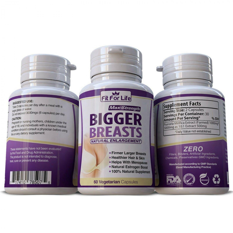 BIG BREASTS GROWTH GROW BIGGER BREAST ENLARGEMENT PUERARIA BUTT FIRMING PILLS